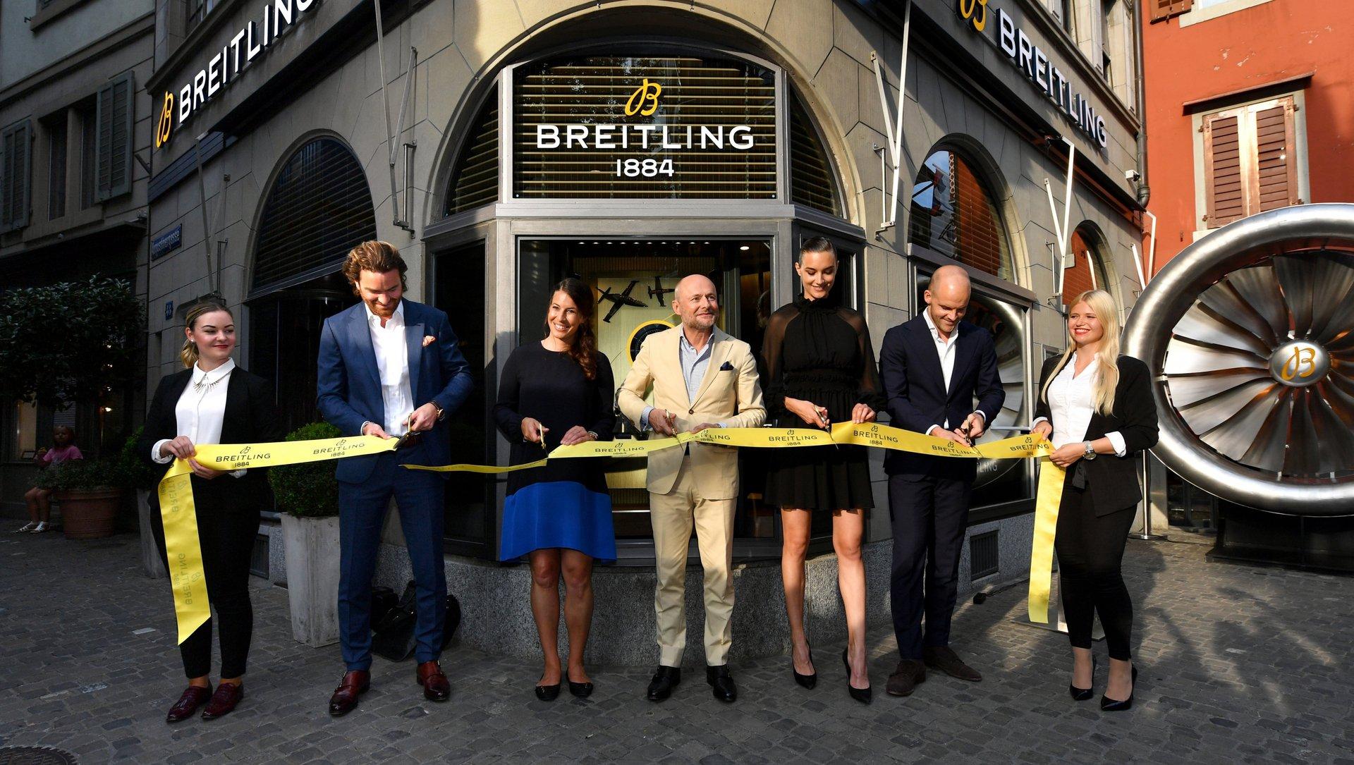Breitling abre nueva flagship store en Zúrich