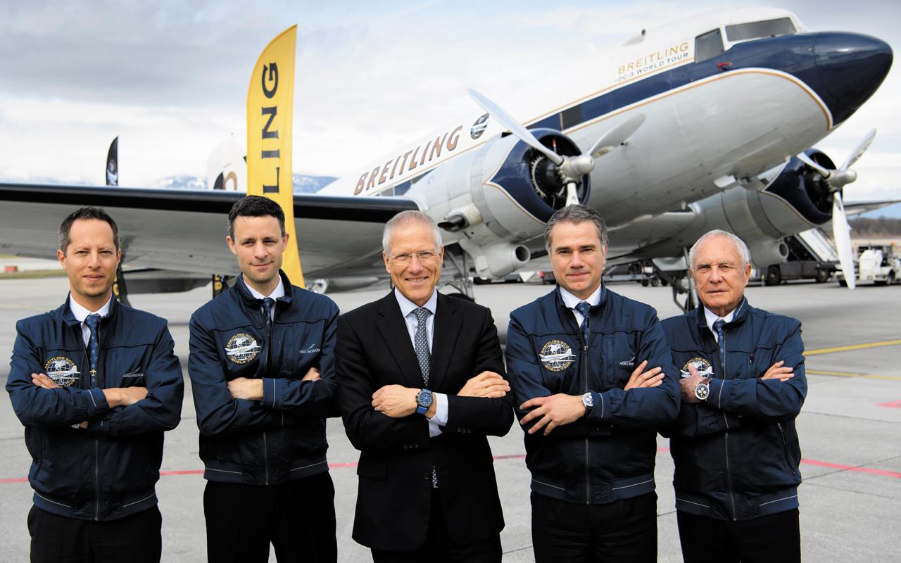 El Breitling DC-3 gira alrededor del mundo