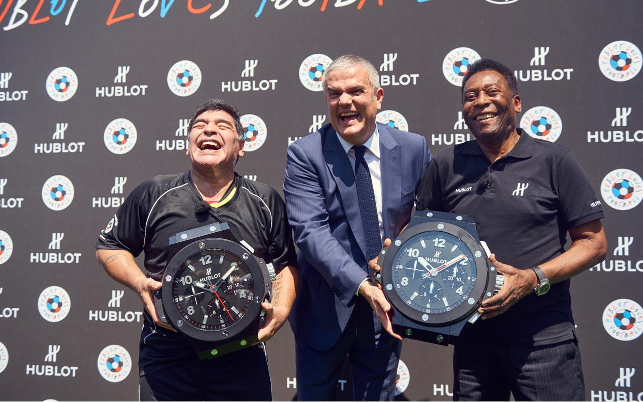 Pelé y Maradona, en el equipo de Hublot