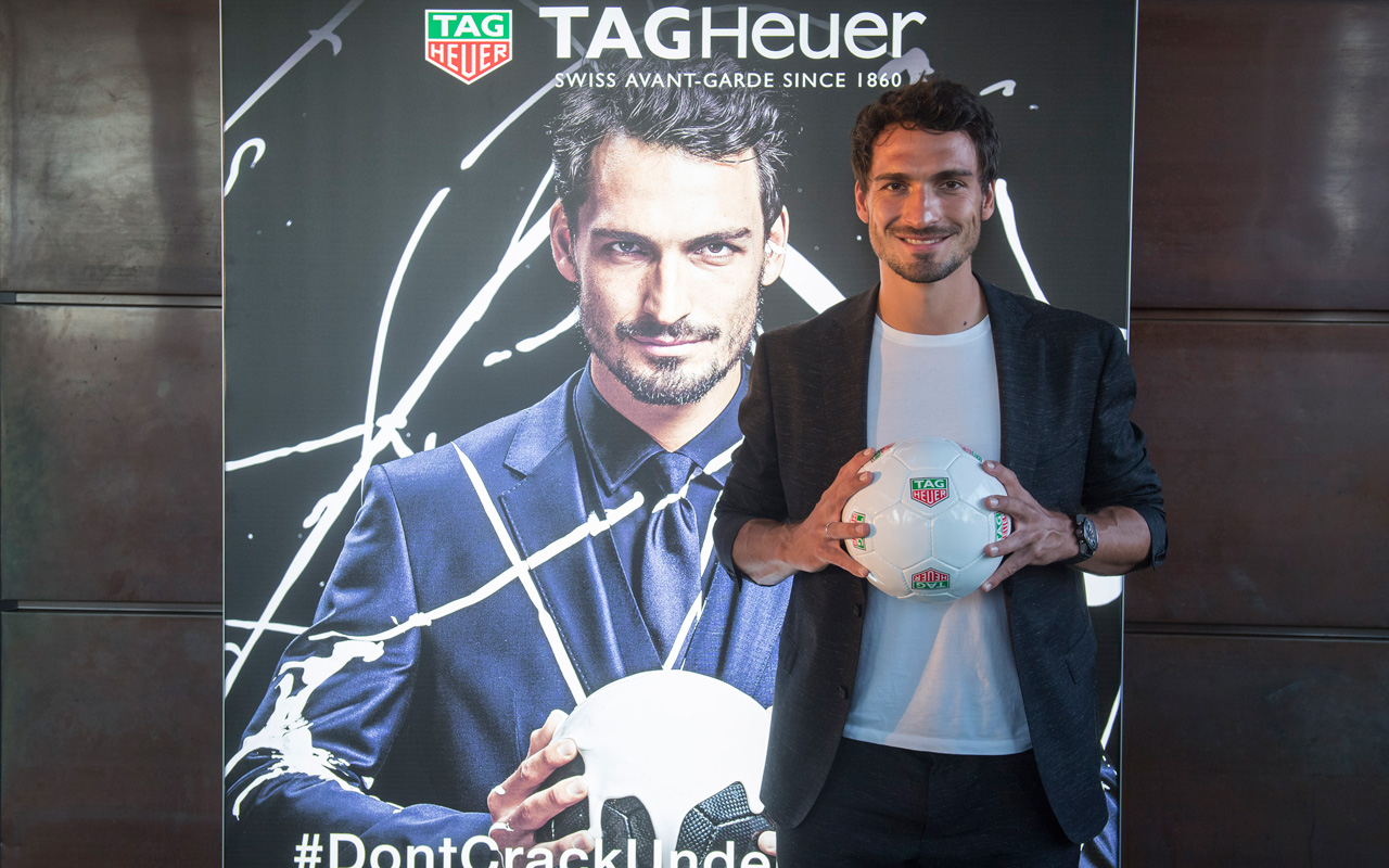 Mats Hummels se une al 'dream team' de TAG Heuer