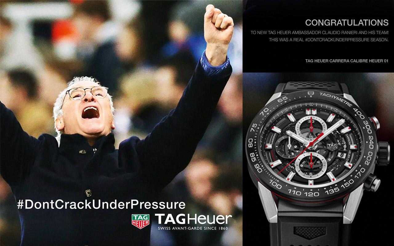 TAG Heuer ficha a Claudio Ranieri