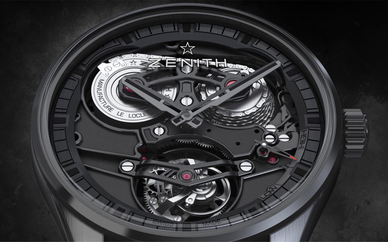 Zenith, alta relojería futurista