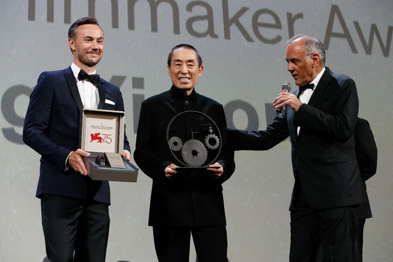 Zhang Yimou recibió el Glory to the Filmmaker Award