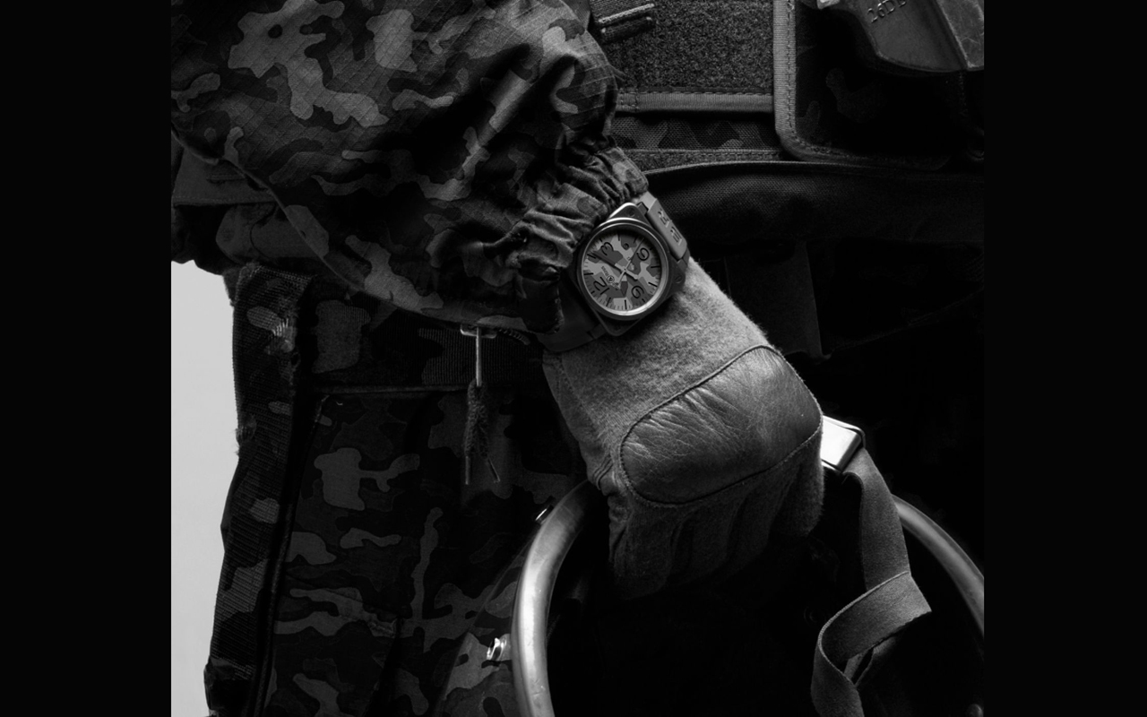 Bell &Ross BR 03-92 Black Camo, inspiración militar