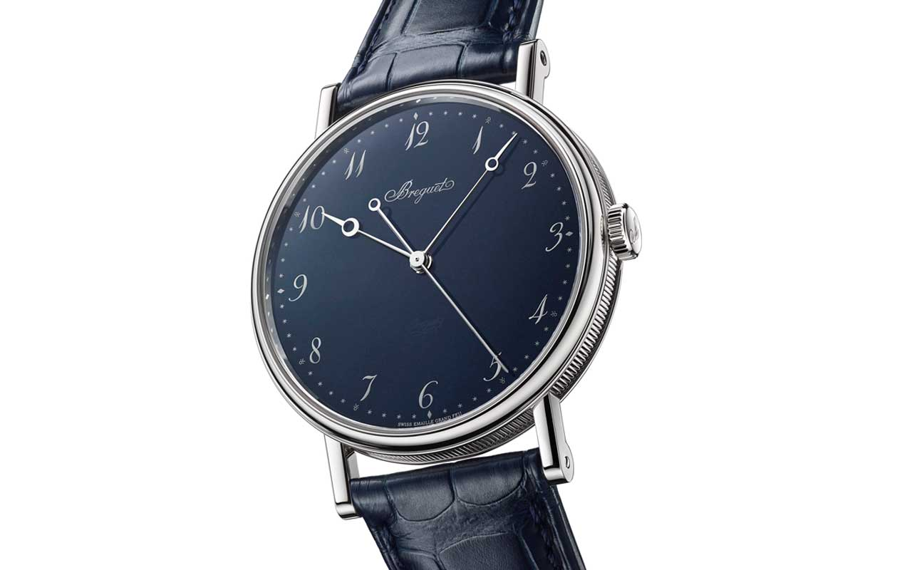 Breguet Classique 5175 Ginza Anniversary Special Edition, pureza en azul