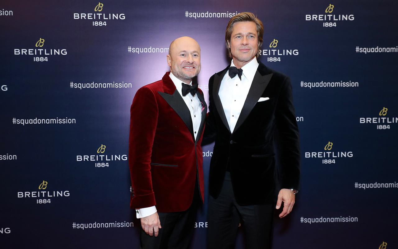 Brad Pitt celebra la llegada de Breitling a China