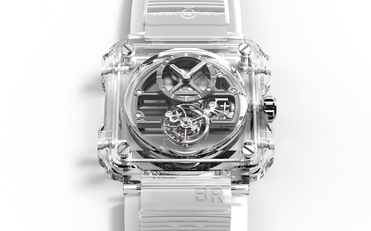 Bell & Ross BR-X1 Skeleton Tourbillon Sapphire, transparencia de alto poder