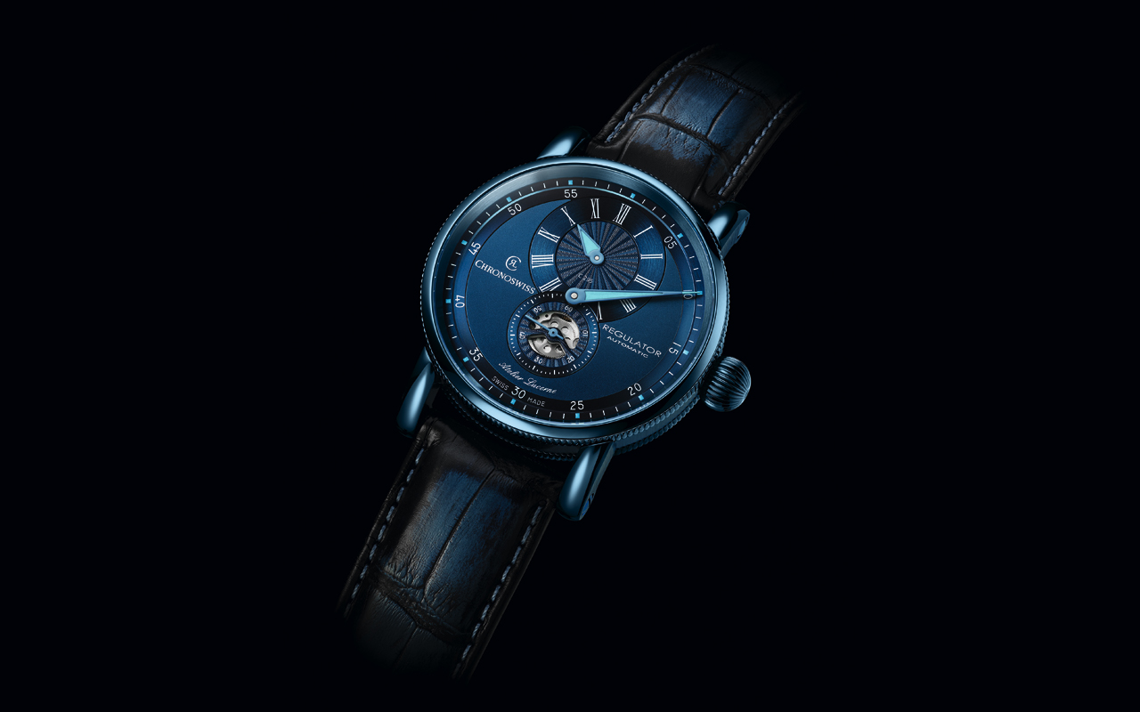 Chronoswiss, estilo 'total blue'
