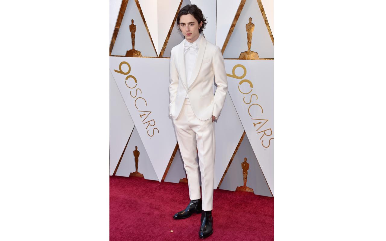 Timothée Chalamet luce Jaeger-LeCoultre en los Oscar