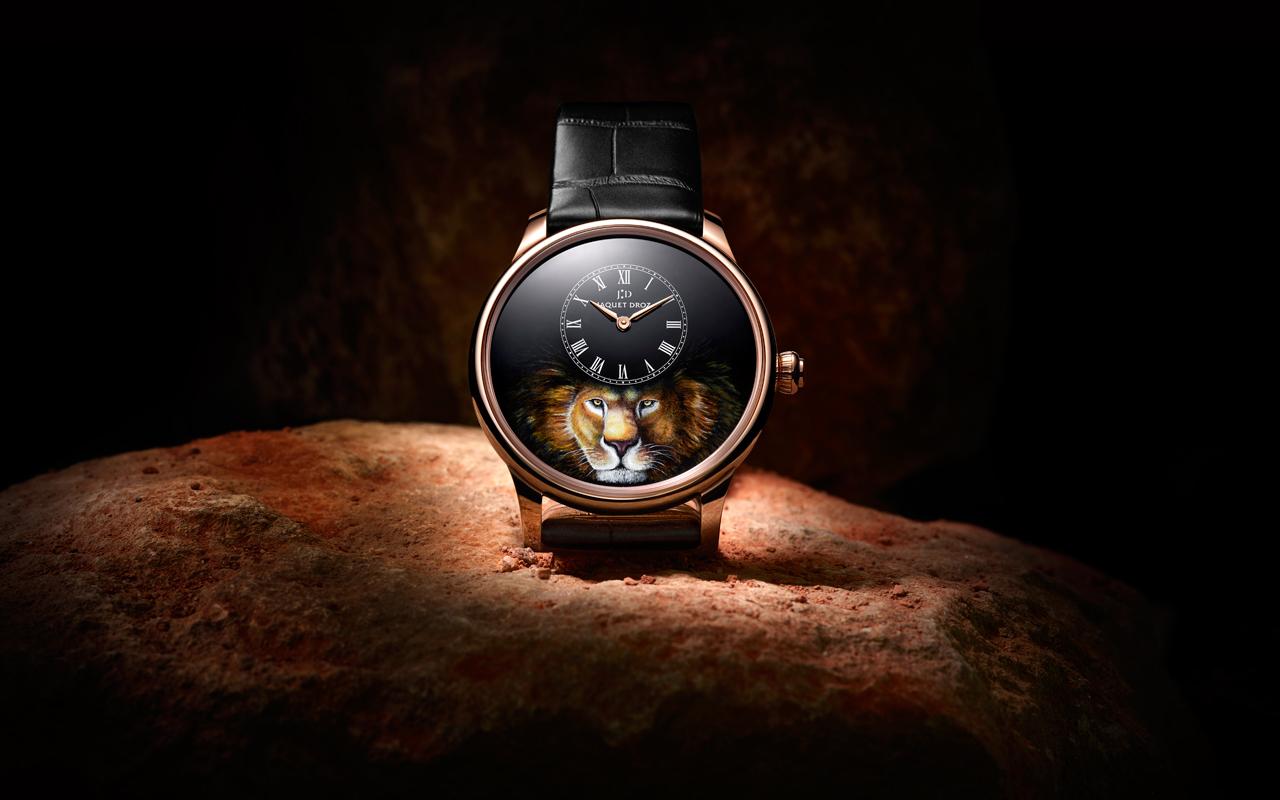 Jaquet Droz Petite Heure Minute Lion, nueva serie