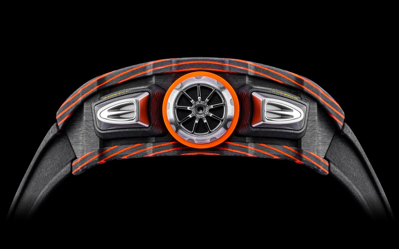 RM 11-03 McLaren Automatic Flyback Chronograph, curvas de vértigo