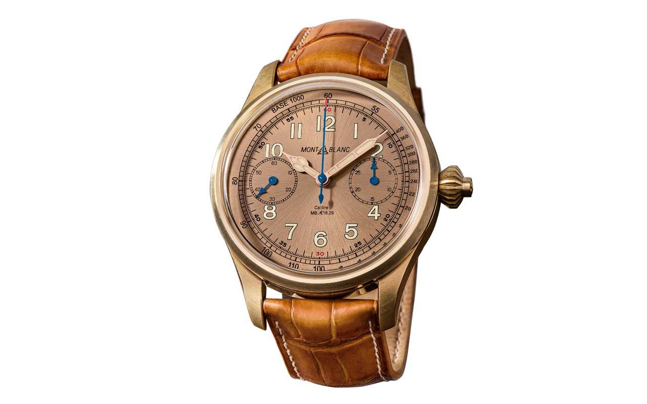 Montblanc 1858 Chronograph Tachymeter Limited Edition 100, nueva caja en bronce