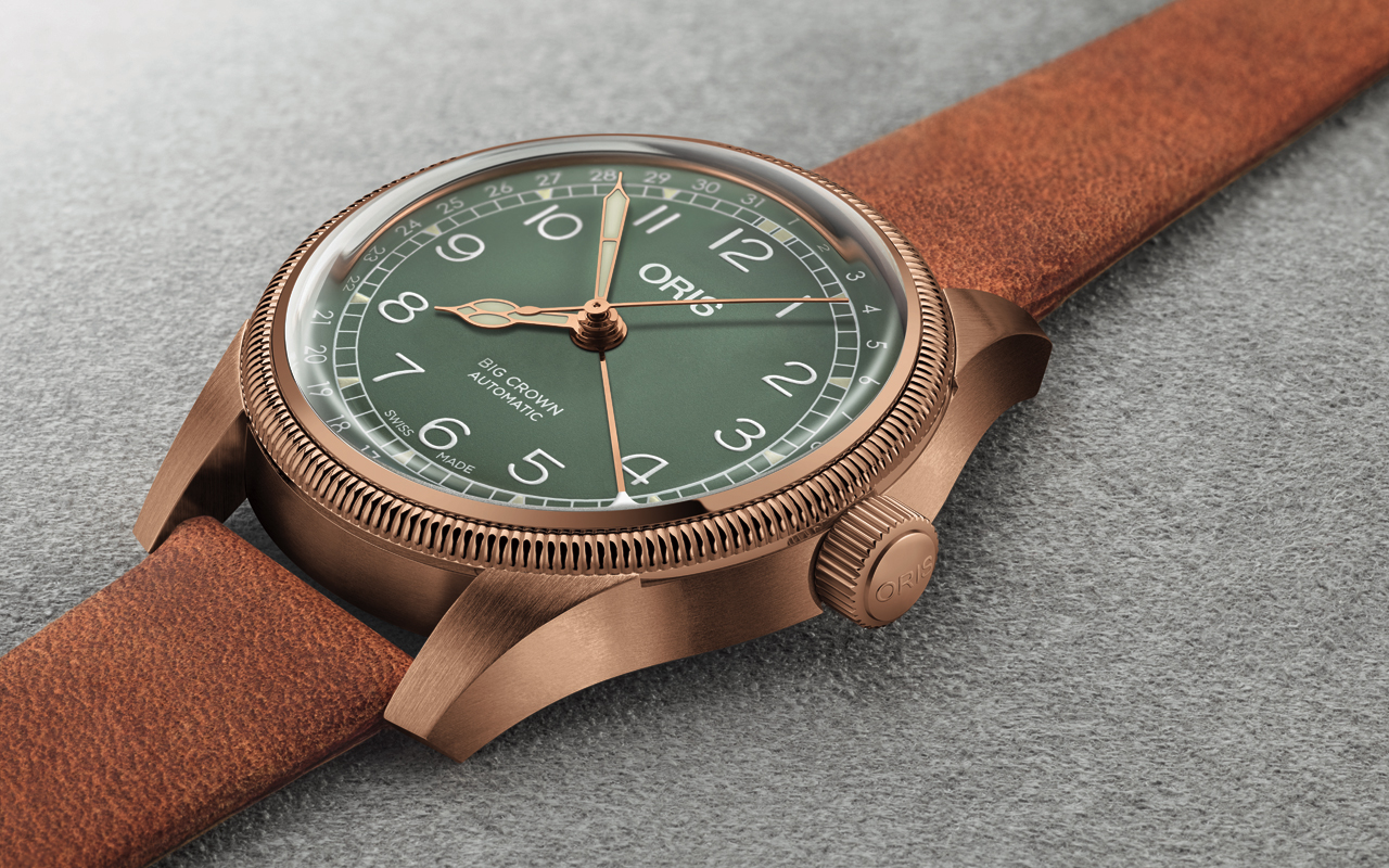 Oris Big Crown Pointer Date, clásico en bronce