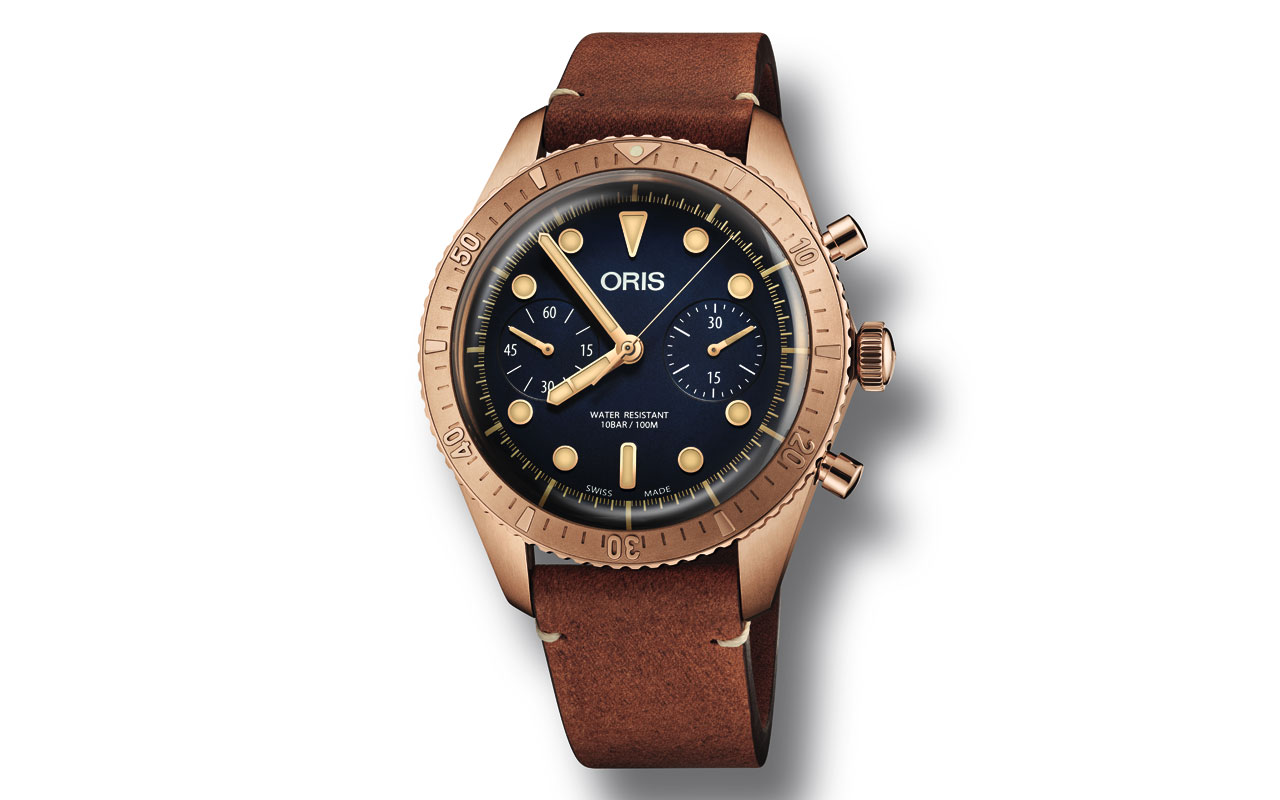 Oris Carl Brashear Chronograph Limited Edition, robustez en bronce