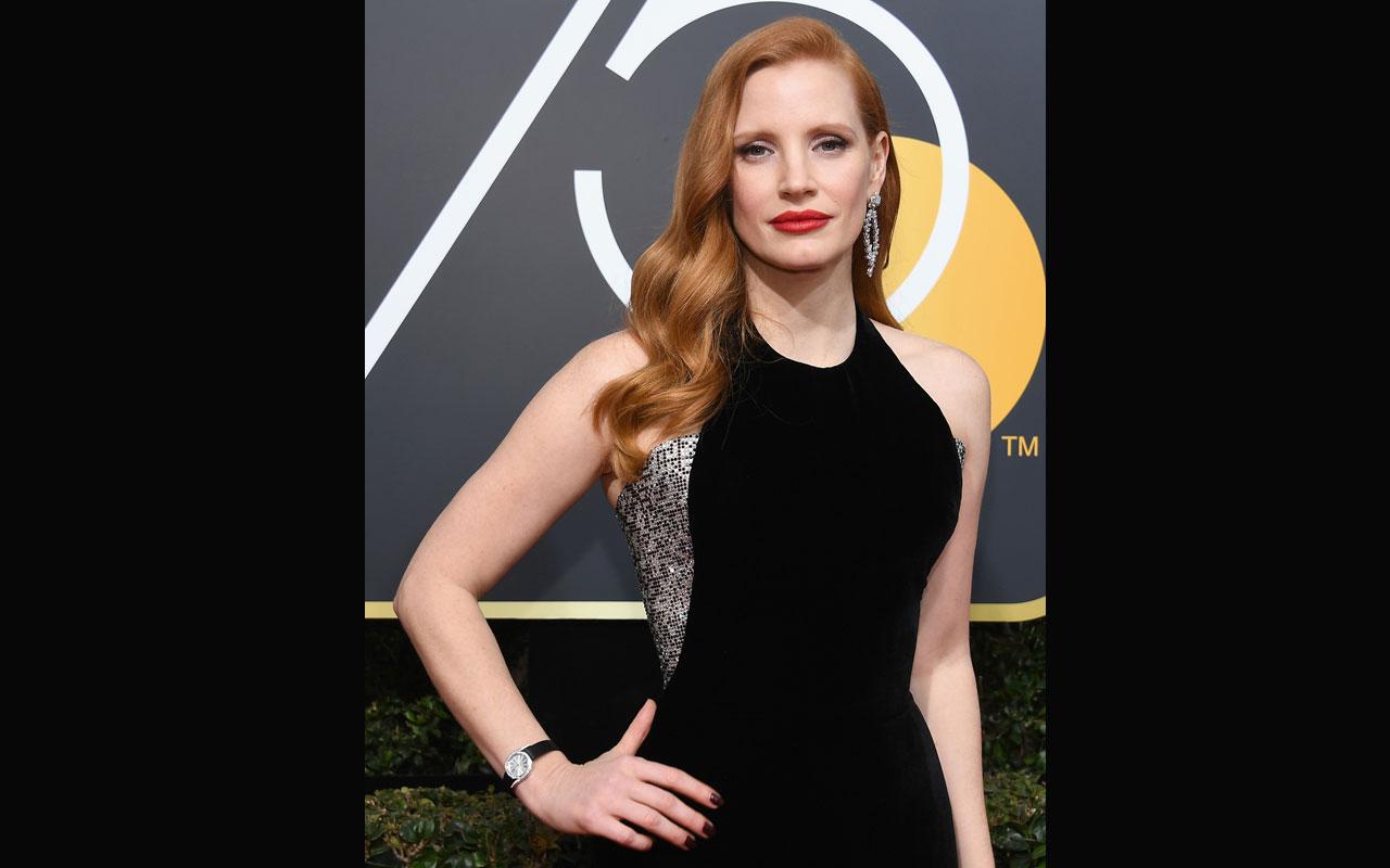 Jessica Chastain y Piaget deslumbran en los Golden Globes 2018