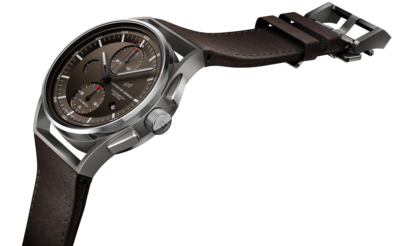 Porsche Design Chronotimer Flyback Brown & Leather, estética funcional