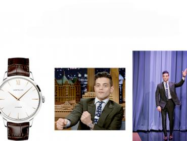 "Rami Malek y Montblanc estelarizan ""The Tonight Show"""