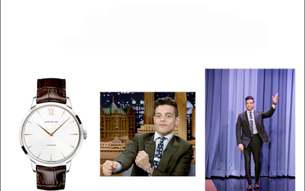 "Rami Malek y Montblanc estelarizan ""The Tonight Show"""