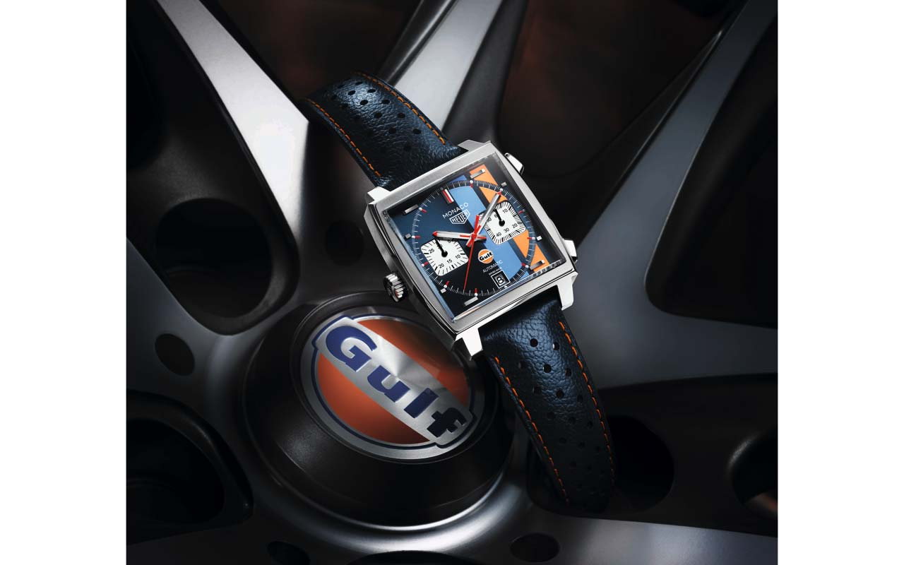 TAG Heuer Monaco Edition Spéciale Gulf, códigos racing