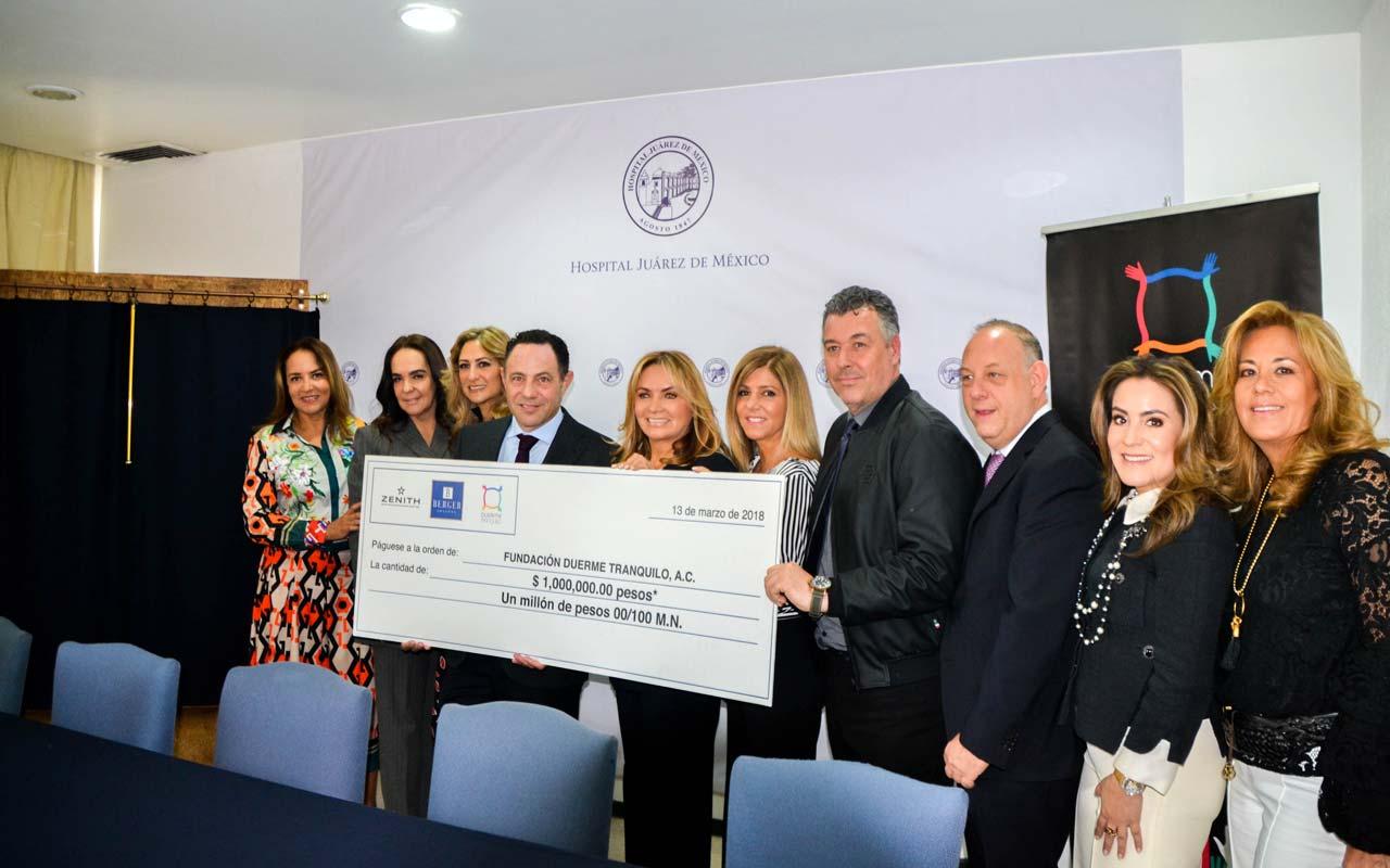Zenith y Berger Joyeros donan 1 millón de pesos